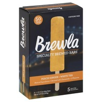 Brewla Brewed Bars, Specialty, Peach Ginger + White Tea