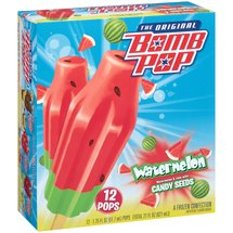 The Original Bomb Pop Watermelon Candy Seeds Ice Pops