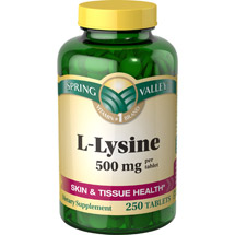 Spring Valley L-Lysine 500 mg