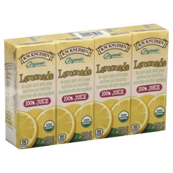 R.W. Knudsen Family Organic 100% Juice Lemonade - 4 CT