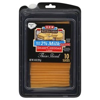 H-E-B 2% Thin Sliced Sharp Cheddar
