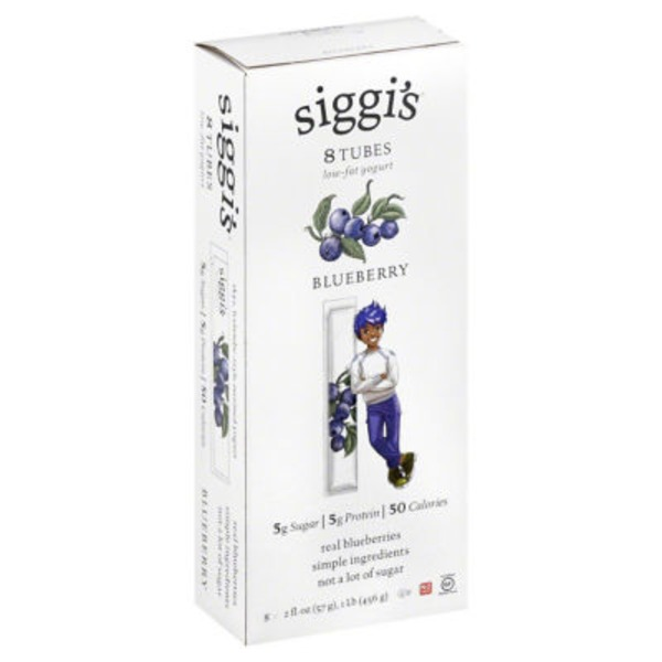 Siggi's Blueberry Low-Fat Yogurt Tubes