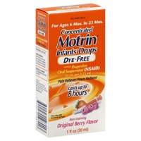 Motrin® Ibuprofen Oral Suspension, Concentrated Infants' Drops, Dye-Free, Non-Staining Original Berry Flavor