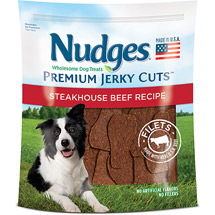 Nudges Steakhouse Beef Fillets Jerky Dog Treats