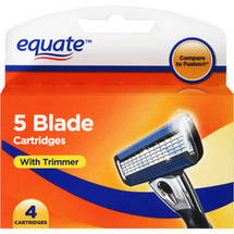 Equate 5 Blade Cartridges with Trimmer