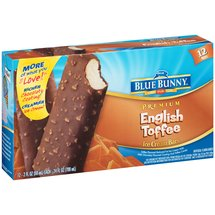 Blue Bunny Frozen English Toffee Bars