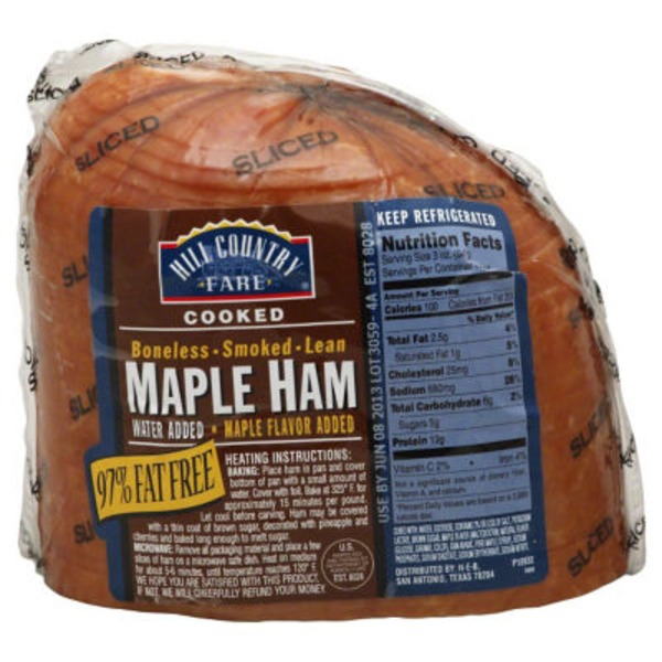 Hill Country Fare Fully Cooked Sliced Boneless Smoked Lean Maple Ham