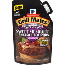 McCormick Grill Mates Steakhouse Burgers Sauce Mix-Ins Sweet Mesquite & Caramelized Onion Seasoning