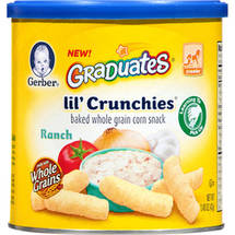 Gerber Graduates Lil; Crunchies Ranch Baked Whole Grain Corn Snack