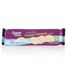 Great Value Sugar Free Frosted Oatmeal Cookies