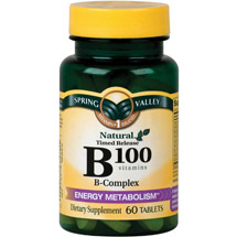 Spring Valley Natural Timed Release B100 B-Complex Tablets