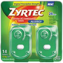 Zyrtec 24 Hour Allergy Tablets 10 mg