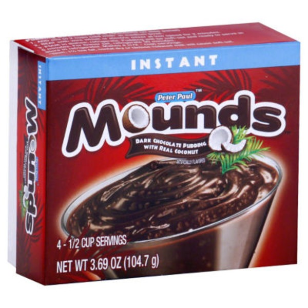 Mounds Instant Dark Chocolate Pudding