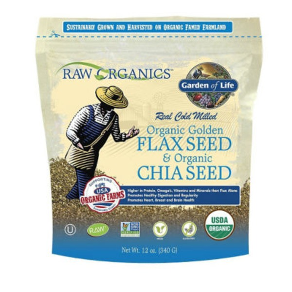 Garden of Life Raw Organic Flax Seed and Chia Seed