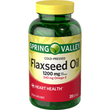 Spring Valley Flaxseed Oil Dietary Supplement Softgels