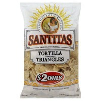 Santitas White Corn Triangles Tortilla Chips