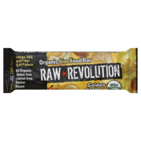 Raw Revolution Organic Live Food Bar Golden Cashew