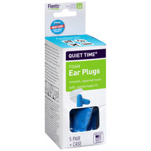 Flents Quiet Time Foam Ear Plugs with Case NRR 33