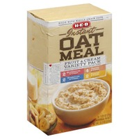 H-E-B Instant Oatmeal Fruit And Cream Variety Pack