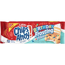 Nabisco Chewy Chips Ahoy! Birthday Frosting Filled Soft Cookies