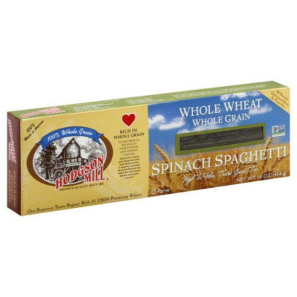 Hodgson Mill Whole Wheat Whole Grain Spinach Spaghetti
