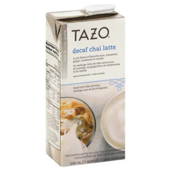 Tazo Tea Chai Decaf Latte Black Tea Concentrate