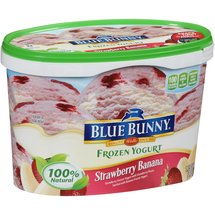 Blue Bunny Strawberry Banana Frozen Yogurt