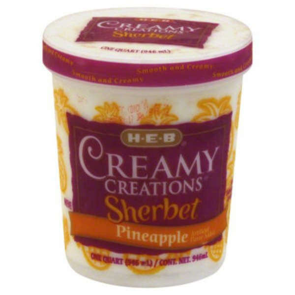 H-E-B Creamy Creations Pineapple Sherbet