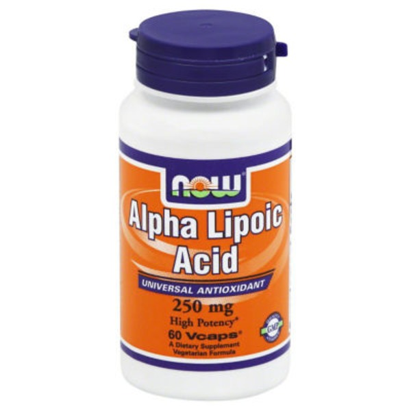Now 250 mg Alpha Lipoic Acid Vegetable Capsules