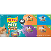 Friskies Poultry Classic Pate 32 Count Variety Pack