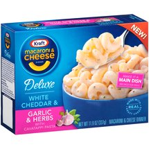 Kraft Deluxe White Cheddar & Garlic & Herbs with Cavatappi Pasta Macaroni & Cheese