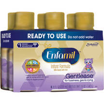 Enfamil Gentlease baby formula - Ready-to-Use 8 fl oz Plastic Bottles - 6ct