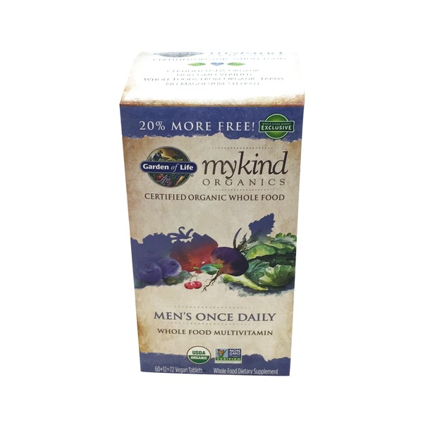 Garden of Life Men's Once Daily Whole Food Multivitamin 72 ct