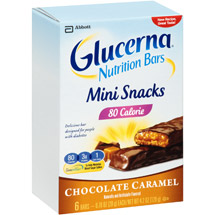 Glucerna Mini Snack Bars Chocolate Carmel