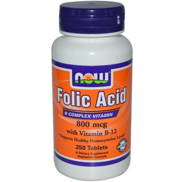 Now Folic Acid B-Complex 800 Mcg Tablets