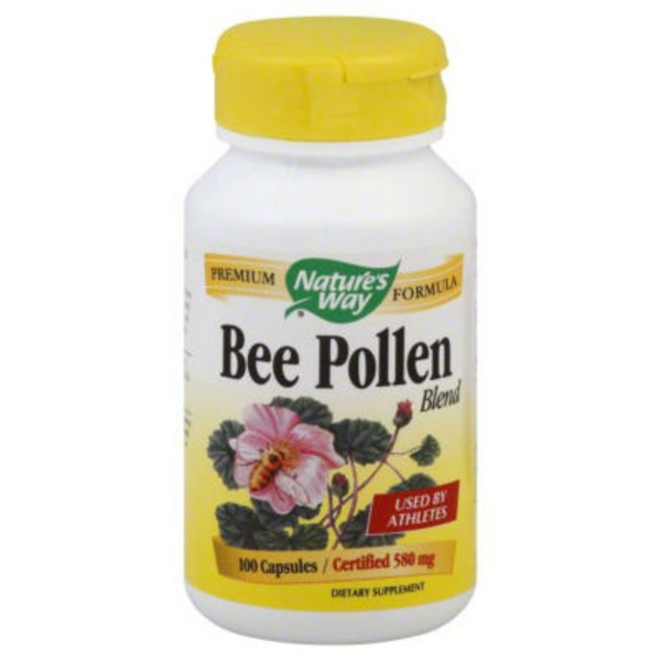 Nature's Way Bee Pollen Blend 580mg Capsules - 100 CT