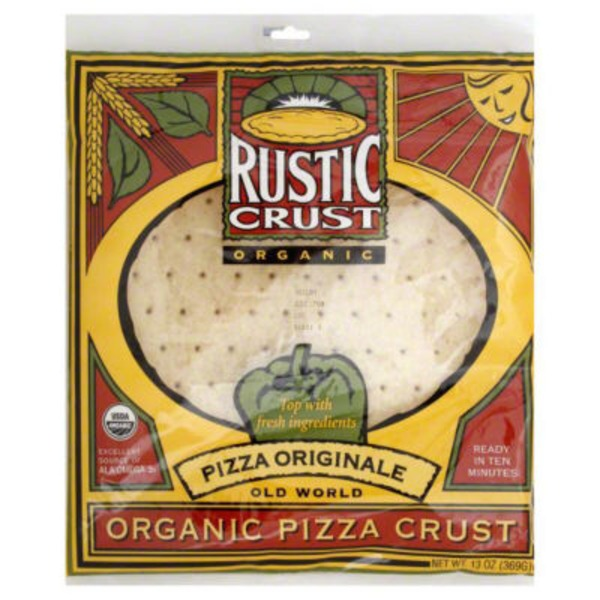 Rustic Crust Organic Pizza Crust Pizza Originale