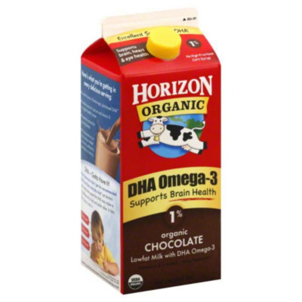 Horizon Organic Chocolate 1% Milk with DHA Omega-3