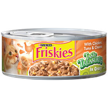 Purina Friskies Tasty Treasures with Chicken Tuna & Cheese in Gravy Cat Food 5.5 oz. Can