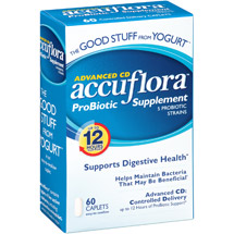 Northwest Natural Products Accuflora Pro-Biotic Acidophilus Value Size Caplets Dietary Supplement