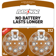 Rayovac: 312 Hearing Aid Battery