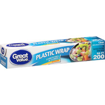 Great Value Clear Plastic Wrap