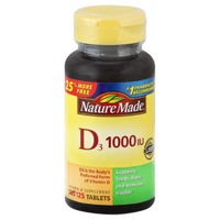 Nature Made D3 1000IU Vitamin D Supplement Tablets - 100 CT