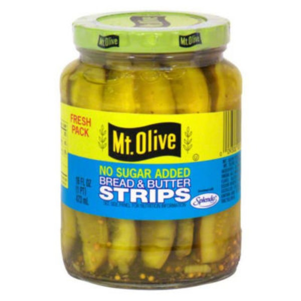 Mt. Olive Bread & Butter Strips No Sugar Added Pickles