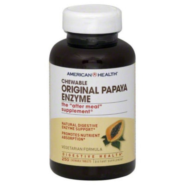 American Health Original Papaya Enzyme Chewable Tablets