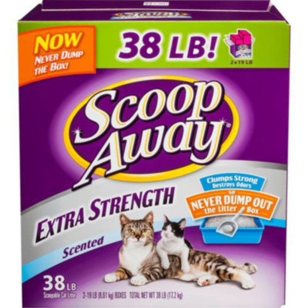 Fresh Step Scoop Away Extra Strength Scented Scoopable Cat Litter