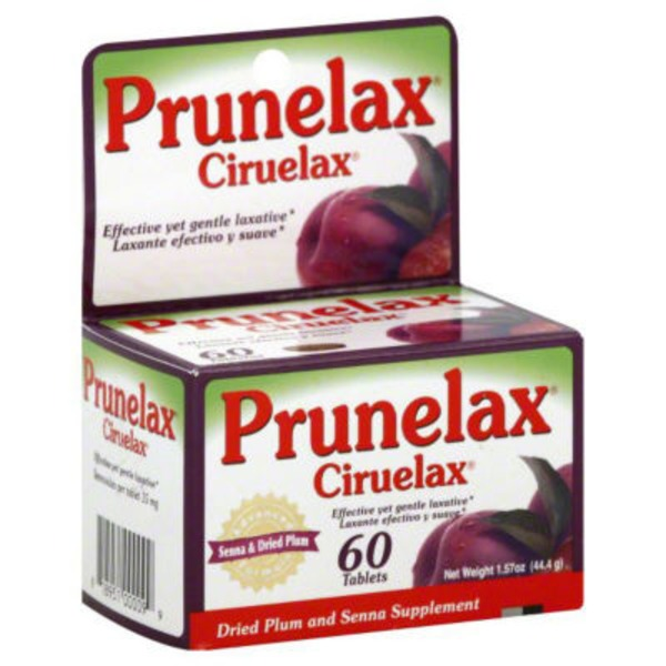 Prunelax Ciruelax Dried Plum and Senna Supplement Tablets