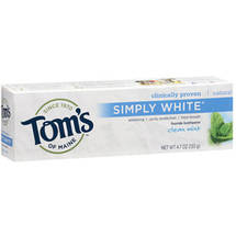 Toms of Maine Simply White Clean Mint Fluoride Toothpaste