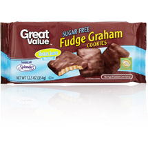 Great Value Sugar Free Fudge Graham Cookies