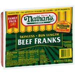Nathan's Famous Skinless Bun Length Beef Franks